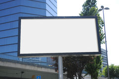Tom affischtavla utomhus, utomhus- advertizing Arkivfoton