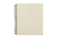 Tom anteckningsbokåtlöje som isoleras upp på vit bakgrund Fästa ihop PA Arkivbilder