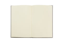 Tom anteckningsbokåtlöje som isoleras upp på vit bakgrund Fästa ihop PA Royaltyfri Foto