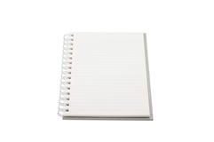 Tom anteckningsbokåtlöje som isoleras upp på vit bakgrund Fästa ihop PA Fotografering för Bildbyråer