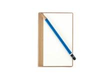 Tom anteckningsbok med blyertspennan Arkivfoton