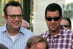 Tom Arnold, Adam Sandler Lizenzfreies Stockfoto
