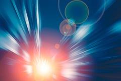 Tom azul da tecnologia de velocidade rápida movente do movimento do borrão empreendedores o conceito futuro Fotografia de Stock