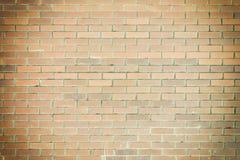 Tom bakgrund av bruna tegelstenar Slätt murverk, textur Foto med en karaktärsteckning Arkivfoto