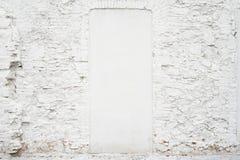 Tom bakgrund för abstrakt tappning Foto av gammal vit målad textur för tegelstenvägg Vit tvättad brickwallyttersida Royaltyfria Bilder