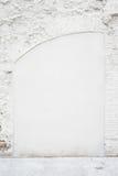 Tom bakgrund för abstrakt tappning Foto av gammal vit målad textur för tegelstenvägg Vit tvättad brickwallyttersida vertikalt Royaltyfri Foto