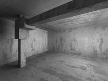 Tom betongväggruminre Abstrakt arkitekturbackgr Arkivbild