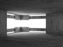 Tom betongväggruminre Abstrakt arkitekturbackgr Royaltyfria Foton