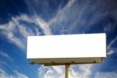 tom blå cloudscape för affischtavla Royaltyfria Foton