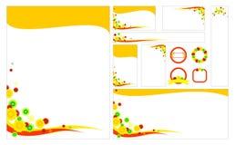 Tom blom- brevpapperuppsättningmall Arkivbild