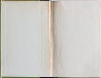 Tom bok som öppnas till den första sidan Royaltyfri Fotografi
