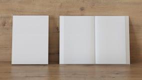 Tom bokmall för presentation stock illustrationer