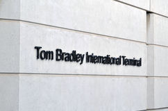 Tom Bradley International Airport royaltyfri fotografi