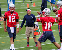 Tom Brady e Jimmy Garoppolo New England Patriots Fotografia de Stock