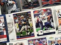 Tom Brady Football Cards imagens de stock