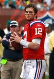 Tom Brady i NFL-handling arkivfoton