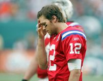 Tom Brady nell'azione del NFL fotografia stock