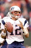 Tom Brady. New England Patriots QB Tom Brady #12.  (Image taken from a color slide Royalty Free Stock Images