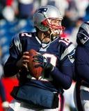 Tom Brady New England Patriots. New England Patriots QB Tom Brady looks to make a pass Royalty Free Stock Image