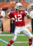Tom Brady in NFL-Actie stock fotografie