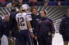 Tom Brady y Bill Belichick New England Patriots Imagen de archivo