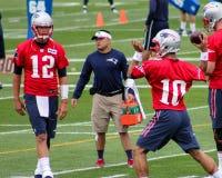 Tom Brady y Jimmy Garoppolo New England Patriots Fotografía de archivo