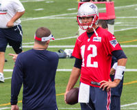Tom Brady y Josh McDaniels, New England Patriots Imagenes de archivo