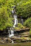 Tom Branch Falls Waterfall royaltyfria bilder