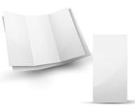Blank vek broschyren för din designpresentation Royaltyfria Bilder