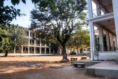 Tom byggnad i mitten av Maputo Royaltyfria Foton