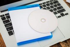 Tom CD-SKIVA med räkningen Fotografering för Bildbyråer