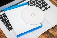 Tom CD-SKIVA med räkningen Royaltyfria Bilder