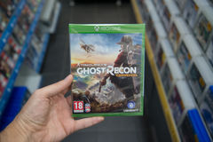 Tom Clancy`s Ghost Recon Wildlands videogame on XBOX One Stock Photo