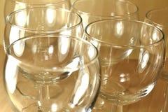 Tom closeup för vinexponeringsglas Arkivfoto