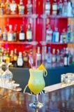 Tom Collins Cocktail. On a bar shelf Stock Photos