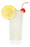 Tom Collins Drink. Alcoholic drink isolated on white background Royalty Free Stock Images