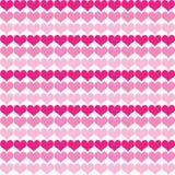 Tom cor-de-rosa pouco fundo do teste padrão do coração Fotografia de Stock Royalty Free