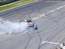 Tom Coronel burns some rubber Stock Photos