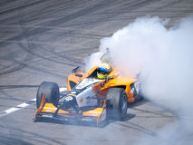 Tom Coronel burns some rubber Stock Photography
