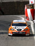 Tom Coronel with SEAT Lion Royalty Free Stock Images