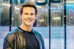 Tom Cruise, der amerikanische Schauspieler ist das Museum der Wachsfiguren Madame Tussauds, die neueste Niederlassung Wachsfigure lizenzfreie stockfotografie