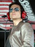 Tom Cruise, der an Daytona 500 teilnimmt lizenzfreies stockfoto