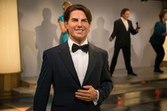 Tom Cruise in Grevin-Museum der Wachsfiguren in Prag stockfotografie