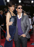 Tom Cruise and Katie Holmes. At the Los Angeles premiere of 'Tropic Thunder' held at the Mann Village Theater in Westwood on August 11, 2008 Royalty Free Stock Photos