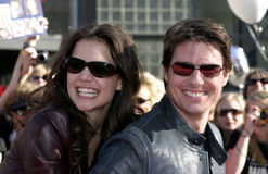 Tom Cruise och Katie Holmes arkivbild