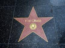Tom Cruise ` s gwiazda, Hollywood sława spacer Hollywood bulwar, Los Angeles, Kalifornia, CA - Sierpień 11th, 2017 - obraz stock