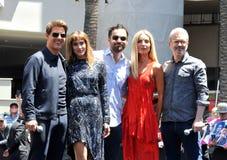 Tom Cruise, Sofia Boutella, Jake Johnson, Annabelle Wallis, Alex Kurtzman Στοκ φωτογραφίες με δικαίωμα ελεύθερης χρήσης