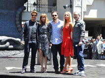 Tom Cruise, Sofia Boutella, Jake Johnson, Annabelle Wallis, Alex Kurtzman Στοκ εικόνα με δικαίωμα ελεύθερης χρήσης