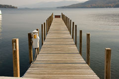 tom dock Royaltyfria Bilder