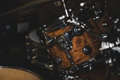 Side View Of a Drum Kit royalty free stock photos